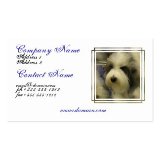 Sheepdog Picture Business Card