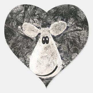 Sheepish Heart Sticker