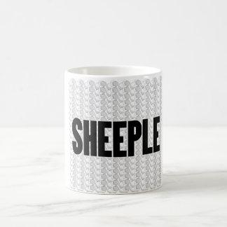 SHEEPLE 2 TAZA BÁSICA BLANCA