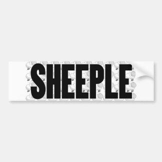 SHEEPLE 4 BUMPER STICKER