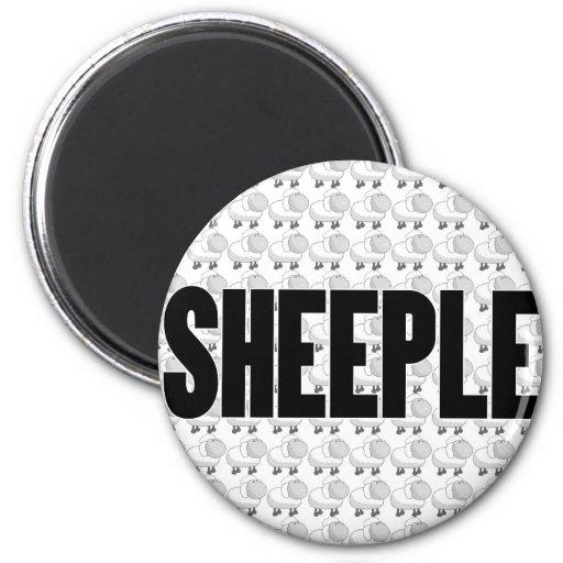 SHEEPLE 4 IMÁN REDONDO 5 CM