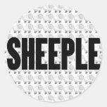 SHEEPLE 4 PEGATINA REDONDA