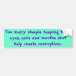 Sheeple & Corruption Car Bumper Sticker