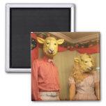 Sheeple está entre nosotros imán cuadrado