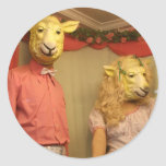 Sheeple está entre nosotros pegatina redonda