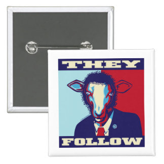 SHEEPLE FOLLOW PINBACK BUTTON