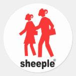 Sheeple Pegatinas Redondas