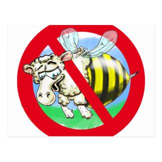 Sheeplebee forbidden postcard