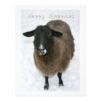 Sheepmas felices tarjetas publicitarias