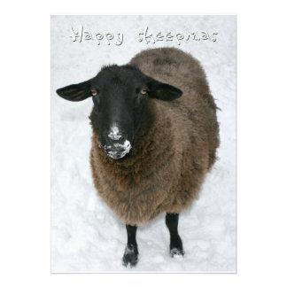 Sheepmas felices invitación