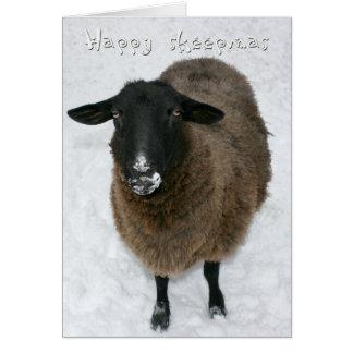 Sheepmas felices tarjeton