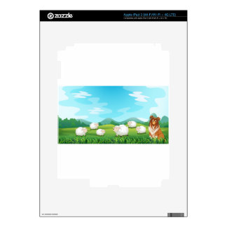 Sheeps and hound decal for iPad 3