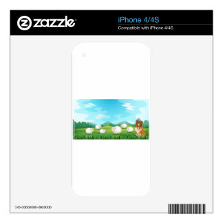 Sheeps and hound iPhone 4 decal
