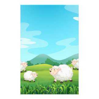 Sheeps and hound stationery