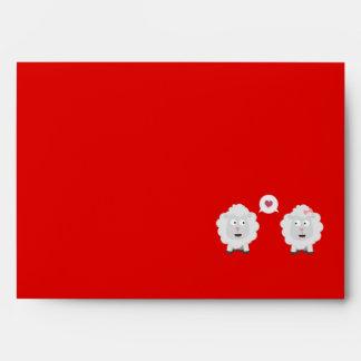 Sheeps in love with heart Z7b4v Envelope