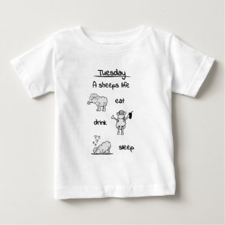 sheeps life tuesday baby T-Shirt