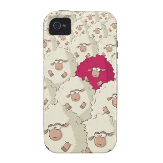 Sheeps Pattern Vibe iPhone 4 Covers