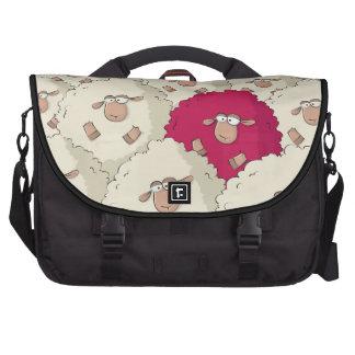 Sheeps Pattern Laptop Commuter Bag