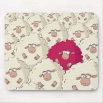 Sheeps Pattern Mouse Pad