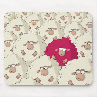 Sheeps Pattern Mouse Pad