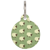 Sheeps Pet Name Tag