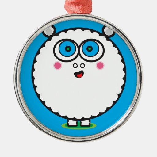 Sheeps Sheeps Sheeps Metal Ornament