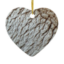 Sheep's Wool Abstract Nature Photo Ceramic Ornament