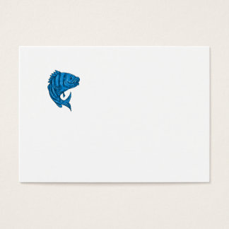 Sheepshead Fish Drawing Business Card