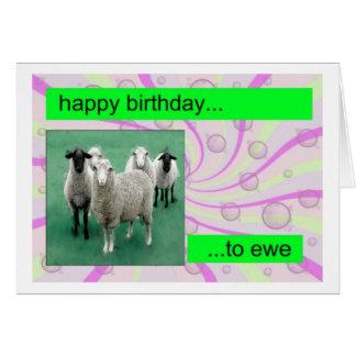 Sheepy birthday card