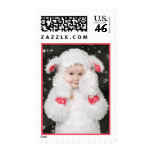 Sheepy in the Snow Postage Stamp
