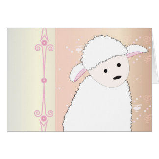 Sheepy On Pink Card