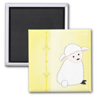 Sheepy on Yellow Magnet