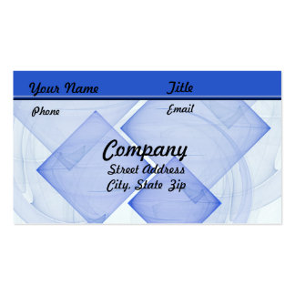 Sheer Blue Tile Business Card Template