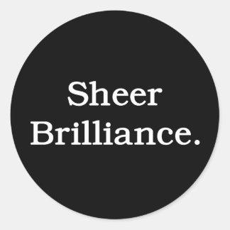 Sheer Brilliance. Classic Round Sticker