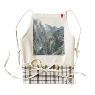 Sheer cliff and deep drop zazzle HEART apron