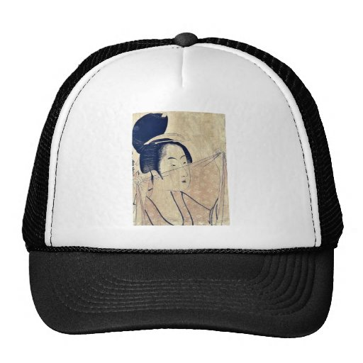 Sheer cloth by Kitagawa, Utamaro Ukiyoe Trucker Hat