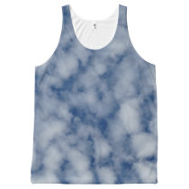 Sheer Clouds All-Over-Print Tank Top