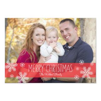 Sheer Color Christmas Photo Card