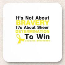 Sheer Determination To Win Sarcoma Awareness Beverage Coaster