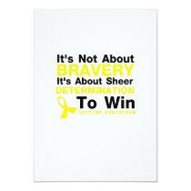 Sheer Determination To Win Sarcoma Awareness Card