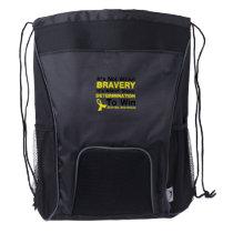 Sheer Determination To Win Sarcoma Awareness Drawstring Backpack