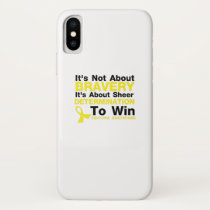 Sheer Determination To Win Sarcoma Awareness iPhone X Case