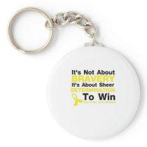 Sheer Determination To Win Sarcoma Awareness Keychain