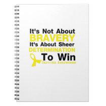 Sheer Determination To Win Sarcoma Awareness Notebook