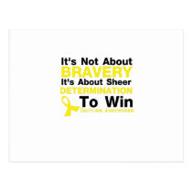 Sheer Determination To Win Sarcoma Awareness Postcard