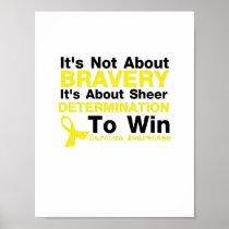 Sheer Determination To Win Sarcoma Awareness Poster