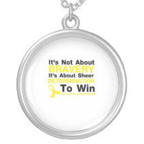 Sheer Determination To Win Sarcoma Awareness Silver Plated Necklace