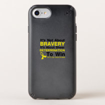 Sheer Determination To Win Sarcoma Awareness Speck iPhone Case