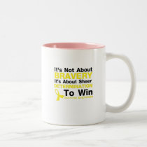Sheer Determination To Win Sarcoma Awareness Two-Tone Coffee Mug
