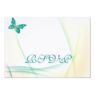 Sheer Green Butterflies Card